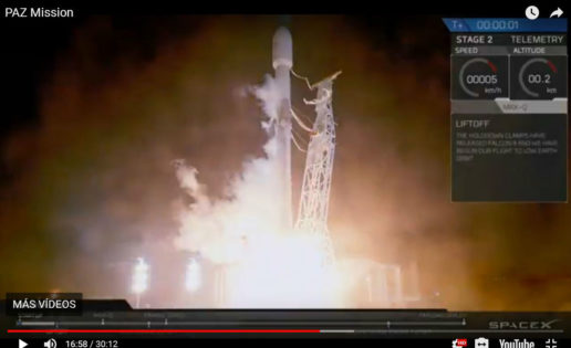SpaceX: así fue el lanzamiento del satélite español PAZ desde EE.UU.