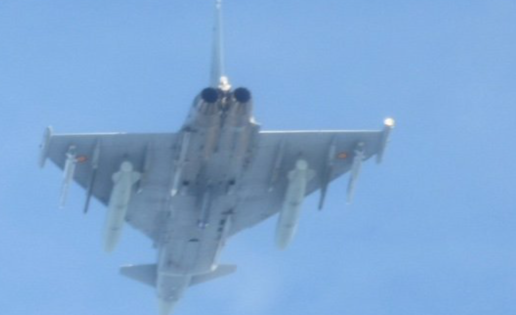 Un caza Eurofighter español dispara un misil accidentalmente en Estonia
