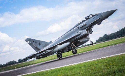 Los Eurofighter españoles vuelven a volar en el Báltico
