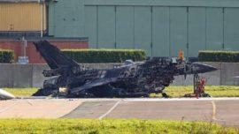 El extraño incidente que dejó chamuscado un F-16 en Bélgica