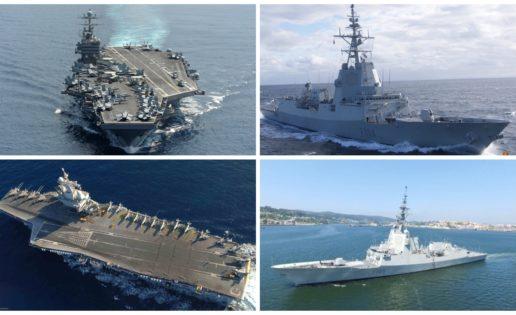 Dos fragatas españolas se integrarán con dos portaaviones de EE.UU y Francia en 2019
