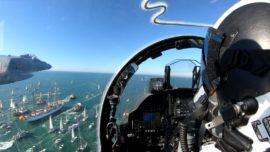 Vídeo: la impresionante salida de Elcano en Cádiz desde un Harrier