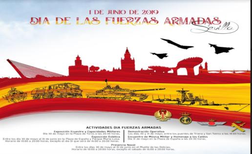 Difas 2019: Militares por Tierra, Río y Aire en Sevilla por el Día de las Fuerzas Armadas