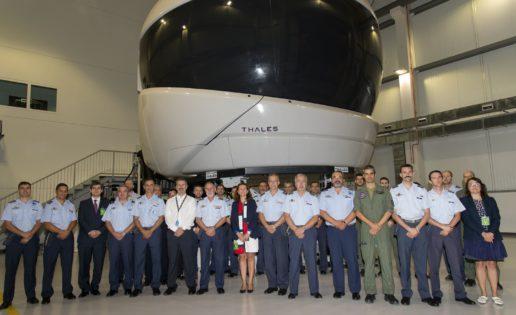 El Ejército del Aire recibe el primer simulador del avión A400M