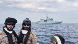 El buque Audaz llega este viernes al puerto de San Roque con los 15 inmigrantes del Open Arms