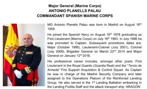 El comandante general de la Infantería de Marina, nuevo jefe de la Operación Atalanta