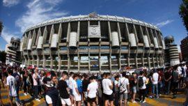 Hazard establece un récord en el Bernabéu: estadio lleno y una cola interminable