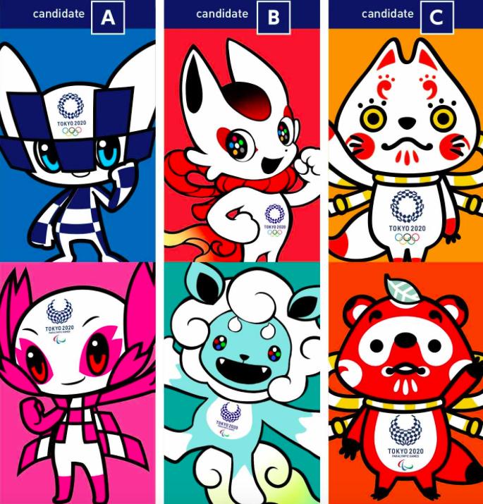 """Al más puro estilo """"manga"""" infantil, las tres parejas de mascotas para los Juegos Olímpicos y Paralímpicos de Tokio 2020 son animales con superpoderes."""