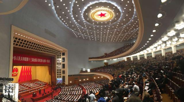Celebrada en el Gran Palacio del Pueblo, la Asamblea Nacional Popular tiene todo el boato del régimen chino.