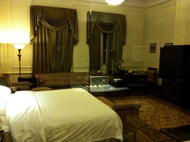 Con todas las comodidades del presente, uno se sentía como si hubiera viajado al pasado en el Astor House.