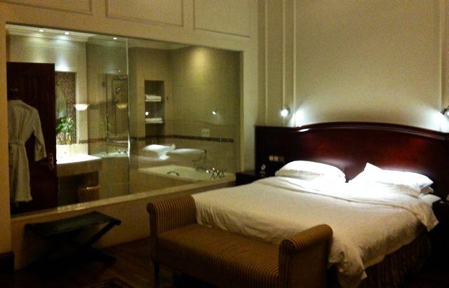 La bonita habitación donde tuve la suerte de alojarme en un viaje a Shanghái en 2013.