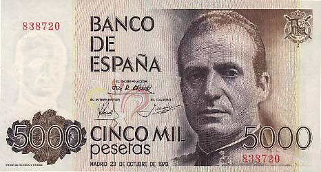 Las antiguas pesetas