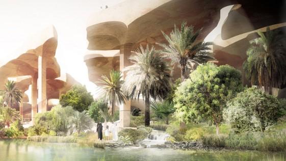 Impresionante Oasis en Abu Dhabi