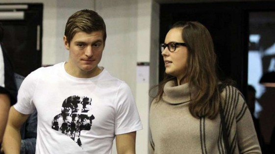 Toni Kroos y Jessica Farber