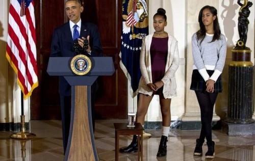 Las Obama y el pavo