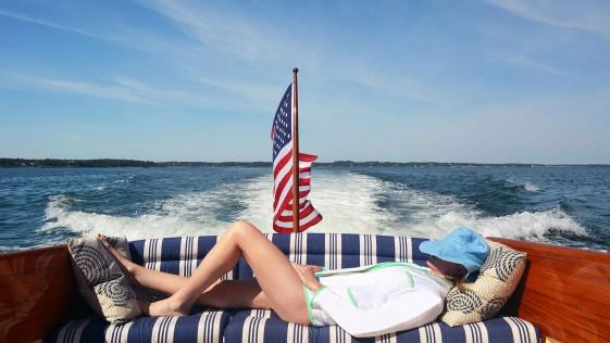 Blazer-toalla: moda Hamptons