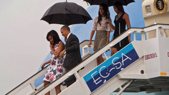 Protocolo Tropical de las Obama en Cuba