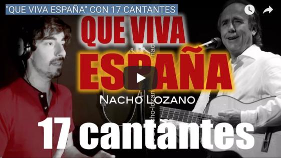 Julio Iglesias, Sabina y Bosé cantando ¡Que viva España!