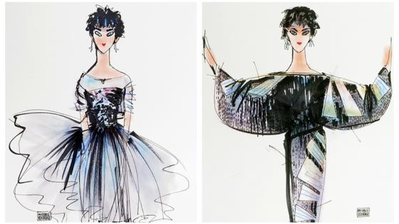 Michael Vollbracht y sus dibujos de moda