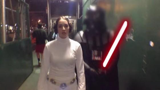 La princesa Leia, acosada en Nueva York