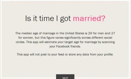 Facebook también te dice cuánto te casarás