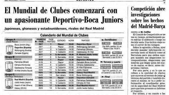 El (no) Mundial de Clubes España 2001