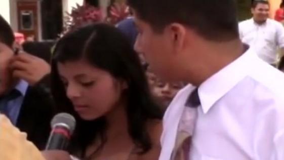 Novia dudó en darle el sí a su pareja durante su boda