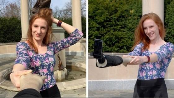 El brazo selfie, el nuevo invento para hacerse autofotos