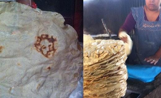 Mujer asegura ver la cara de Cristo en una tortilla
