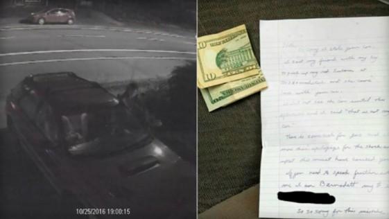 Le roban el coche y se lo devuelven con dinero para echar gasolina
