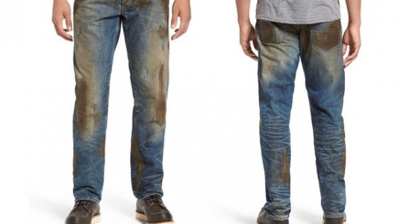¿Comprarías pantalones vaqueros llenos de barro?