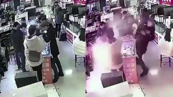 Un hombre muerde un iPhone para comprobar su autenticidad y le explota