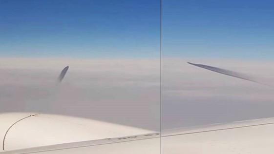 Pasajeros de un avión graban supuesto ovni sobre el mar Egeo