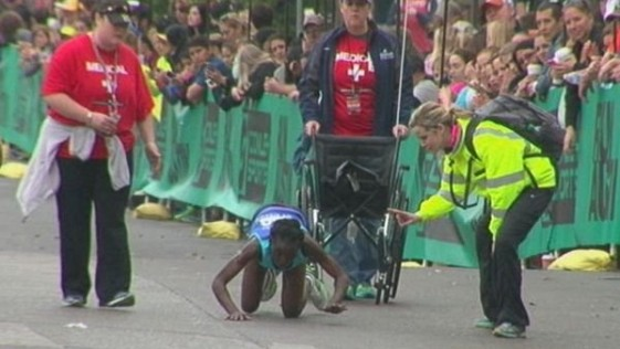 Hyvon Ngetich en el maratón de Austin