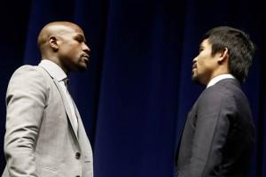 Manny Pacquiao y Floyd Mayweather frente a frente. Comienza la cuenta atrás