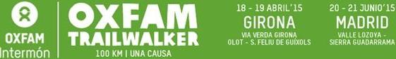 """Oxfam Trailwalker – """"Mis Kilómetros cambian vidas"""""""