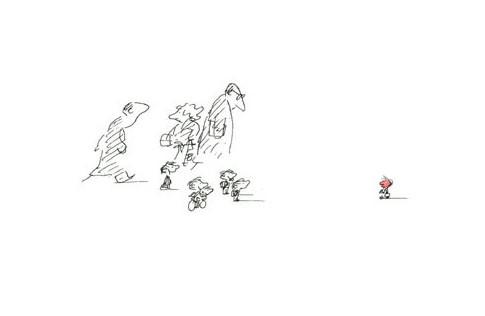 La amistad dibujada por Sempé