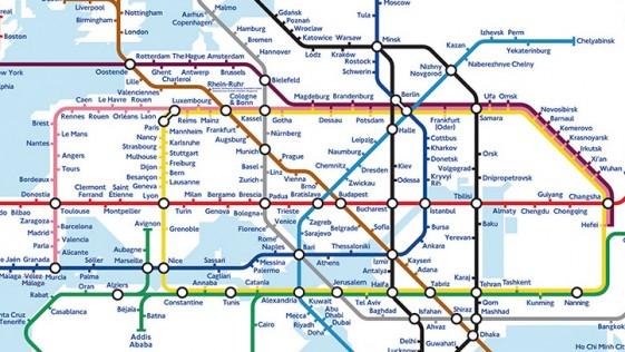 Un viaje de diseño por lo mapas de los suburbanos del mundo
