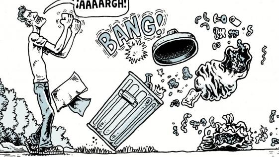 Cuidado con la basura que tiras