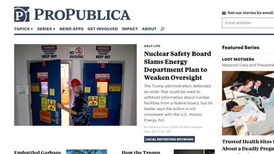«ProPublica» periodismo visual online y de datos
