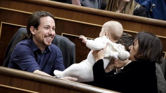 El bebé espectáculo de Podemos