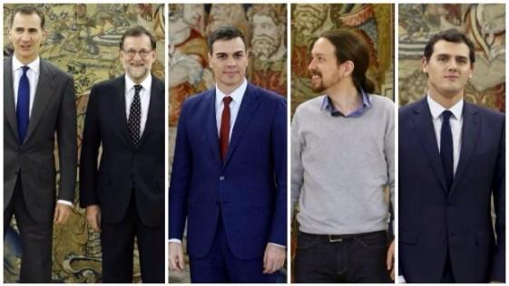 Sube Rajoy y bajan Sánchez y Rivera
