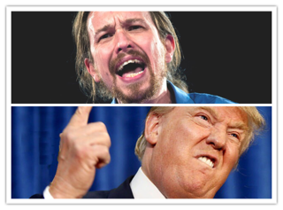 Los 8 parecidos entre Iglesias y Trump