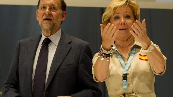 Rajoy a Aguirre: «Esperanza, ¿tú que quieres?»