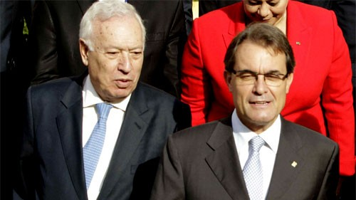 Margallo torea en Cataluña