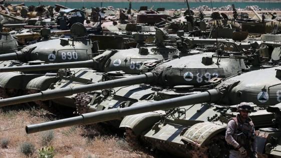 El cementerio de tanques soviéticos en Herat