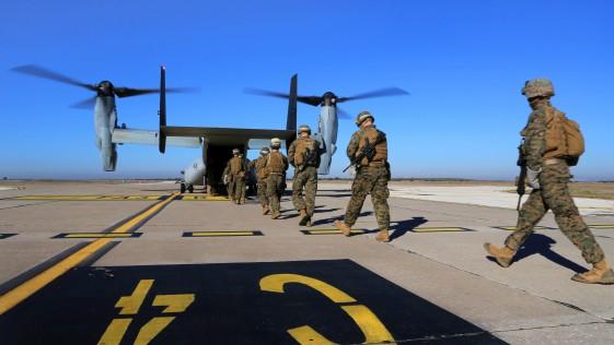 Los «marines de Morón» reducen a la mitad sus Ospreys y 125 efectivos