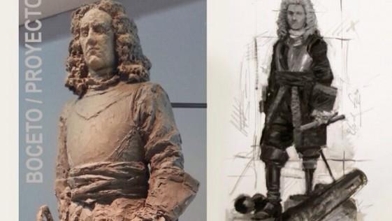 325 años del nacimiento de Blas de Lezo: un boceto para su estatua en Colón