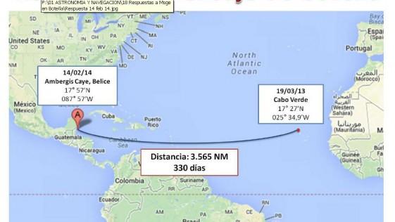 Un mensaje en una botella de «Elcano»: de Cabo Verde a Belice