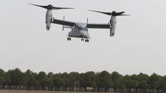 """Marines en Almagro: el """"Osprey"""" con el Bhela I"""